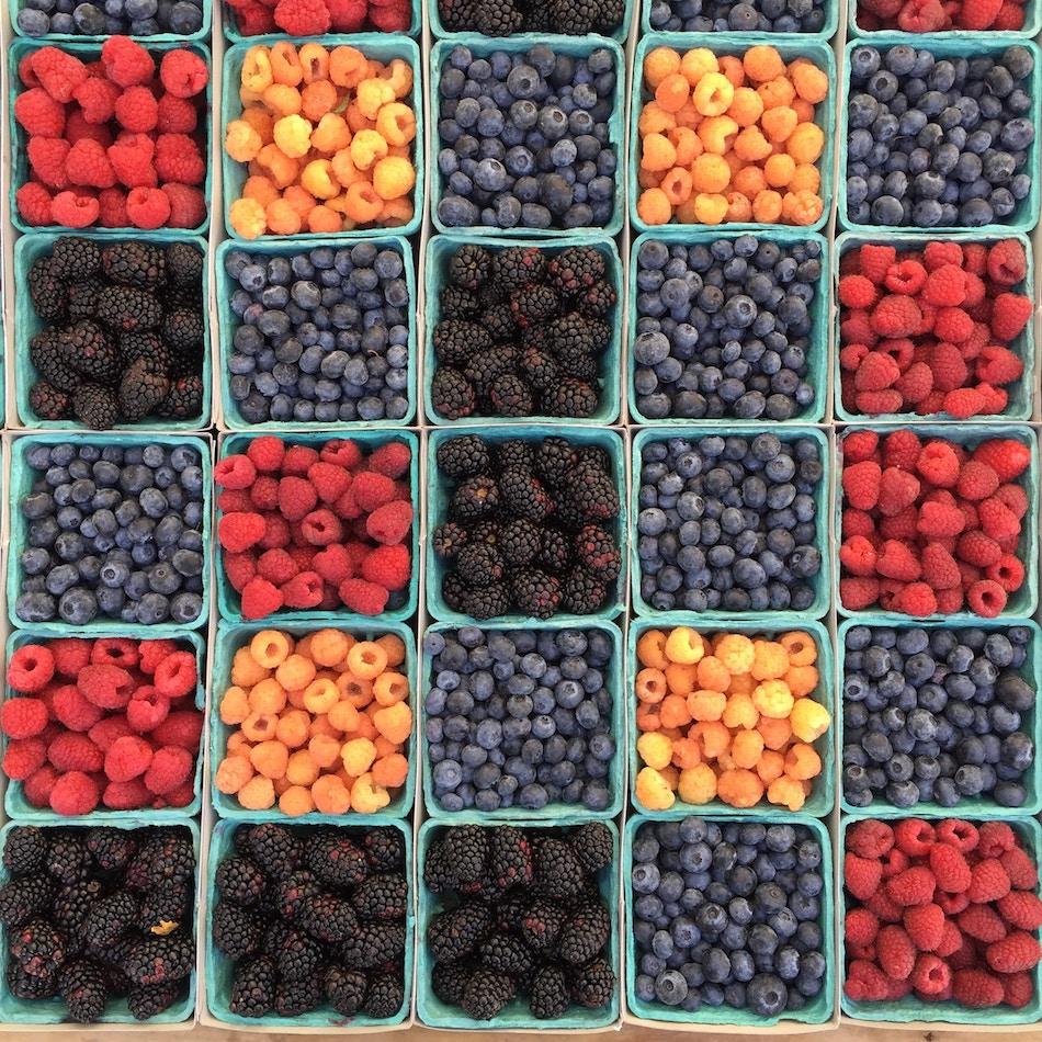Ein Korb voller Früchte