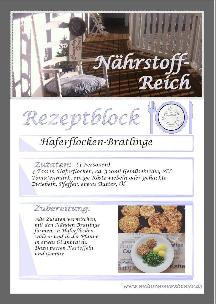 Rezept: Haferflockenbratlinge