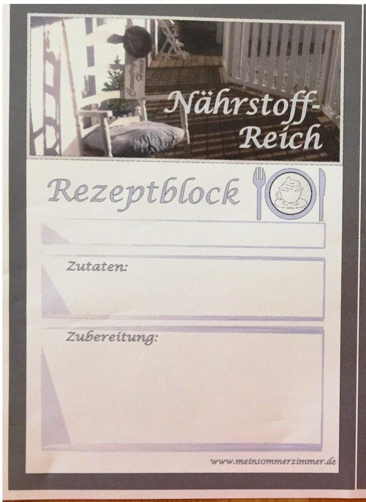 Rezeptblock