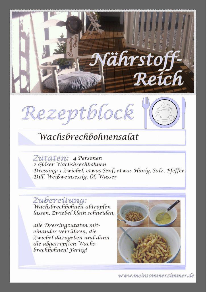 Rezept: Wachsbrechbohnensalat