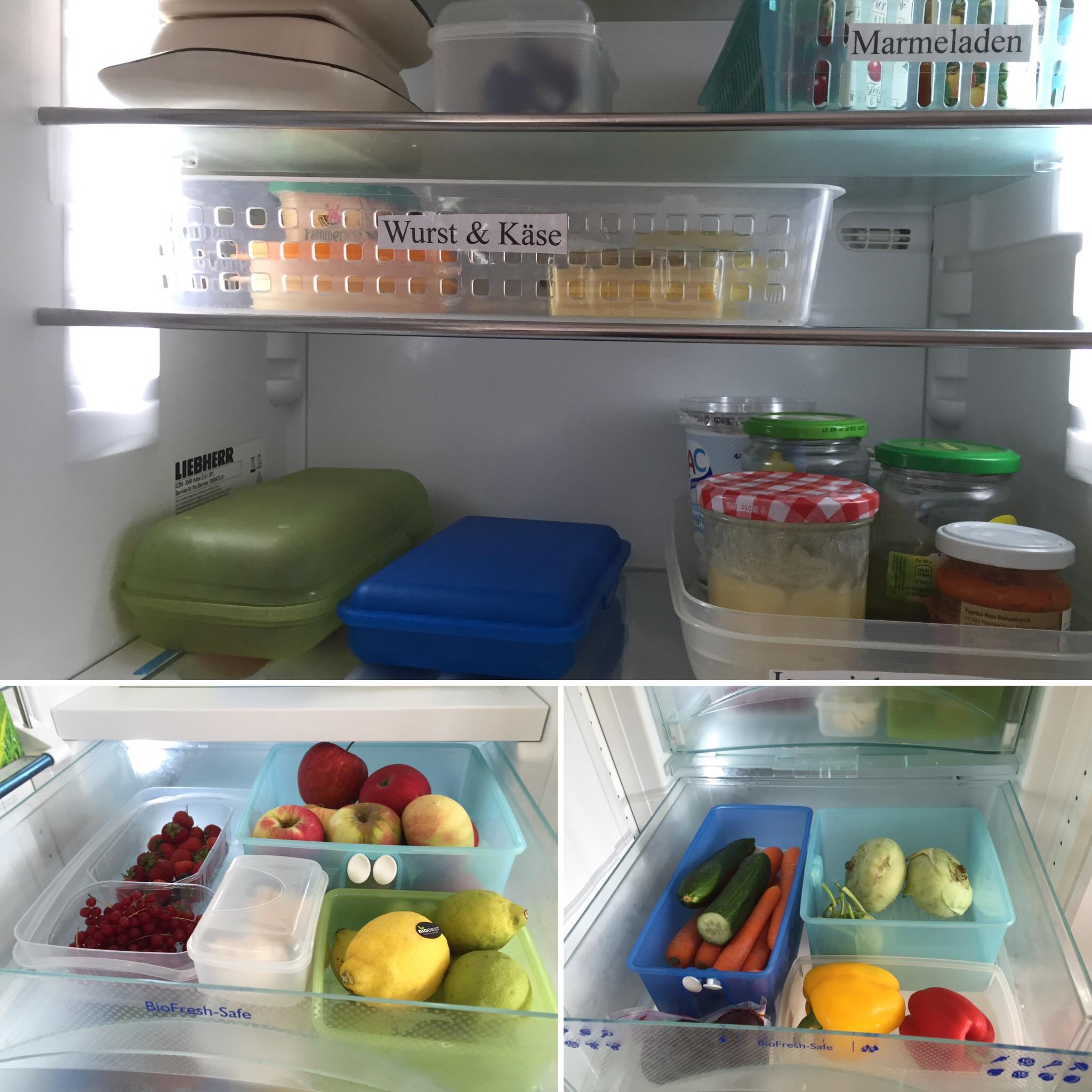 Küchenorganisation- Kühlschrank