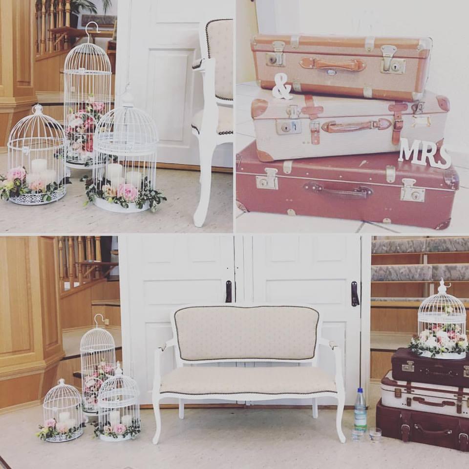 Hochzeits-Dekorationen im Vintage-Style